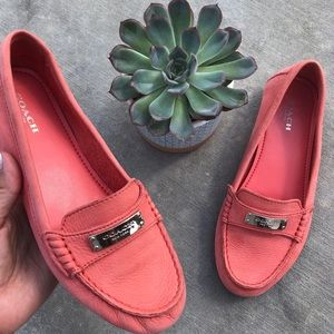 """Coach // """"FREDRICA"""" Coral Pink Loafers"""